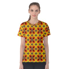 Seventies Hippie Psychedelic Circle Women s Cotton Tee