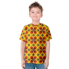 Seventies Hippie Psychedelic Circle Kids  Cotton Tee