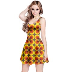 Seventies Hippie Psychedelic Circle Reversible Sleeveless Dress