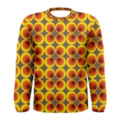 Seventies Hippie Psychedelic Circle Men s Long Sleeve Tee