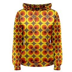 Seventies Hippie Psychedelic Circle Women s Pullover Hoodie