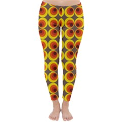 Seventies Hippie Psychedelic Circle Classic Winter Leggings