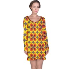 Seventies Hippie Psychedelic Circle Long Sleeve Nightdress