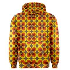 Seventies Hippie Psychedelic Circle Men s Zipper Hoodie