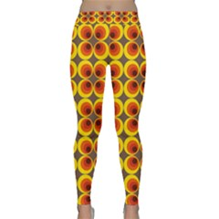 Seventies Hippie Psychedelic Circle Classic Yoga Leggings