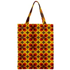 Seventies Hippie Psychedelic Circle Zipper Classic Tote Bag