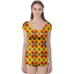 Seventies Hippie Psychedelic Circle Boyleg Leotard