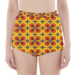 Seventies Hippie Psychedelic Circle High-Waisted Bikini Bottoms