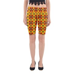Seventies Hippie Psychedelic Circle Yoga Cropped Leggings