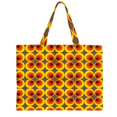 Seventies Hippie Psychedelic Circle Zipper Large Tote Bag