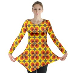 Seventies Hippie Psychedelic Circle Long Sleeve Tunic
