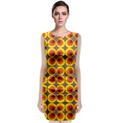 Seventies Hippie Psychedelic Circle Classic Sleeveless Midi Dress
