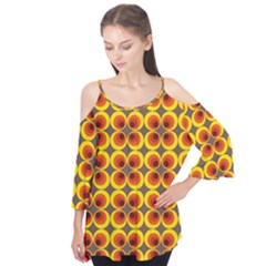 Seventies Hippie Psychedelic Circle Flutter Tees