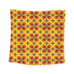 Seventies Hippie Psychedelic Circle Square Tapestry (small)