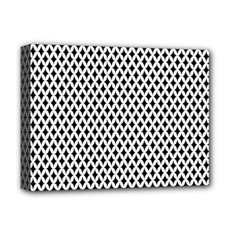Diamond Black White Shape Abstract Deluxe Canvas 16  x 12