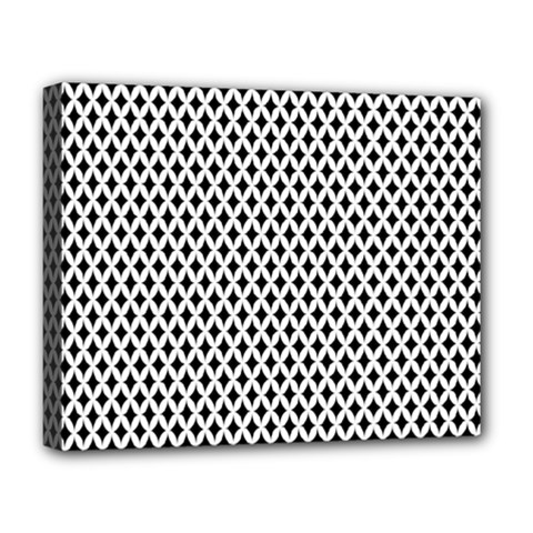 Diamond Black White Shape Abstract Deluxe Canvas 20  x 16
