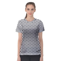 Diamond Black White Shape Abstract Women s Sport Mesh Tee