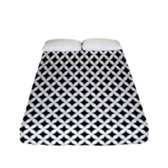 Diamond Black White Shape Abstract Fitted Sheet (full/ Double Size)