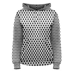 Diamond Black White Shape Abstract Women s Pullover Hoodie