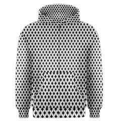 Diamond Black White Shape Abstract Men s Zipper Hoodie