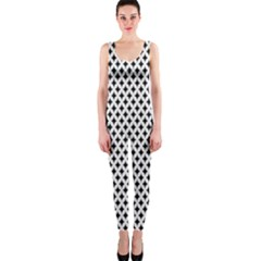 Diamond Black White Shape Abstract OnePiece Catsuit