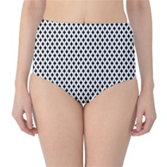 Diamond Black White Shape Abstract High-Waist Bikini Bottoms