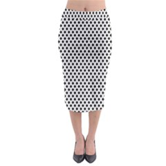 Diamond Black White Shape Abstract Midi Pencil Skirt