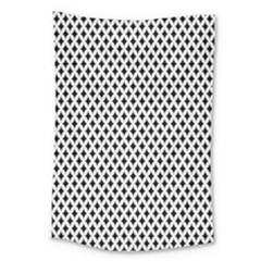 Diamond Black White Shape Abstract Large Tapestry