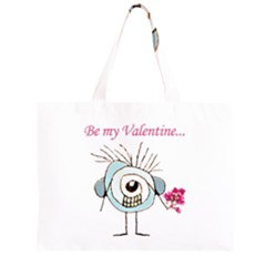 Valentine Day Poster Large Tote Bag