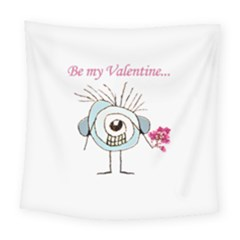 Valentine Day Poster Square Tapestry (large)