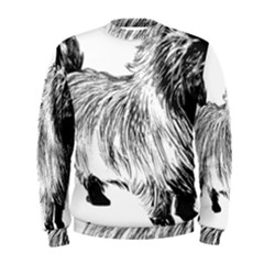 Cairn Terrier Greyscale Art Men s Sweatshirt