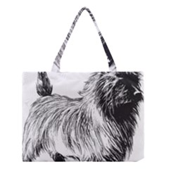 Cairn Terrier Greyscale Art Medium Tote Bag