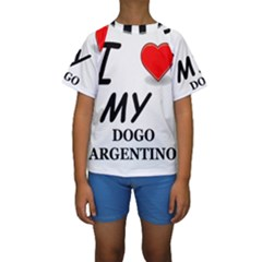 Dogo Love Kids  Short Sleeve Swimwear