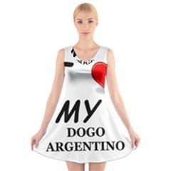 Dogo Love V-Neck Sleeveless Skater Dress