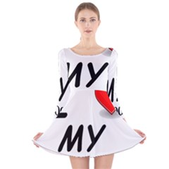 Dogo Love Long Sleeve Velvet Skater Dress