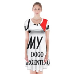 Dogo Love Short Sleeve V-neck Flare Dress