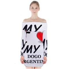 Dogo Love Long Sleeve Off Shoulder Dress