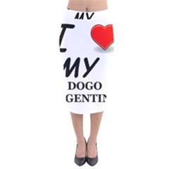 Dogo Love Velvet Midi Pencil Skirt
