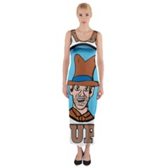 Cowboy Up Fitted Maxi Dress