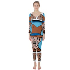 Cowboy Up Long Sleeve Catsuit