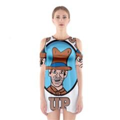 Cowboy Up Shoulder Cutout One Piece
