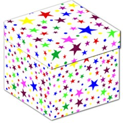 Stars Pattern Background Colorful Red Blue Pink Storage Stool 12
