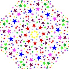 Stars Pattern Background Colorful Red Blue Pink Golf Umbrellas