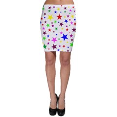 Stars Pattern Background Colorful Red Blue Pink Bodycon Skirt