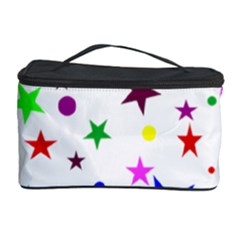 Stars Pattern Background Colorful Red Blue Pink Cosmetic Storage Case