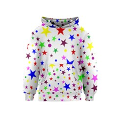 Stars Pattern Background Colorful Red Blue Pink Kids  Pullover Hoodie