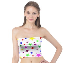 Stars Pattern Background Colorful Red Blue Pink Tube Top