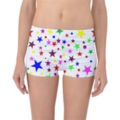 Stars Pattern Background Colorful Red Blue Pink Boyleg Bikini Bottoms