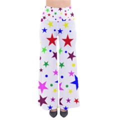 Stars Pattern Background Colorful Red Blue Pink Pants