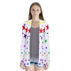 Stars Pattern Background Colorful Red Blue Pink Cardigans